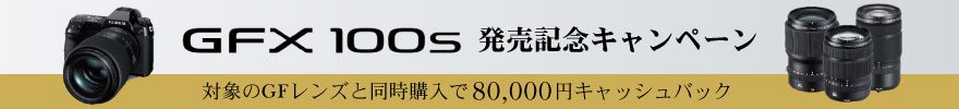 富士フイルム GFX100S発売記念 80,000円キャッシュバックキャンペーン